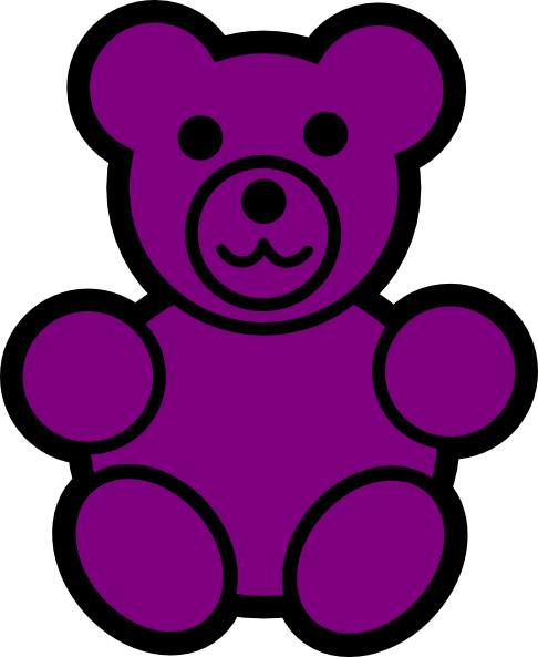 Gummy Bear clipart Vector  Purple art com