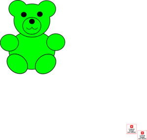 Bear clipart green At Bear Art Gummy Green