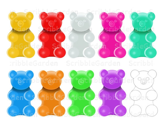 Gummy Bear clipart Gummy collection clip art free