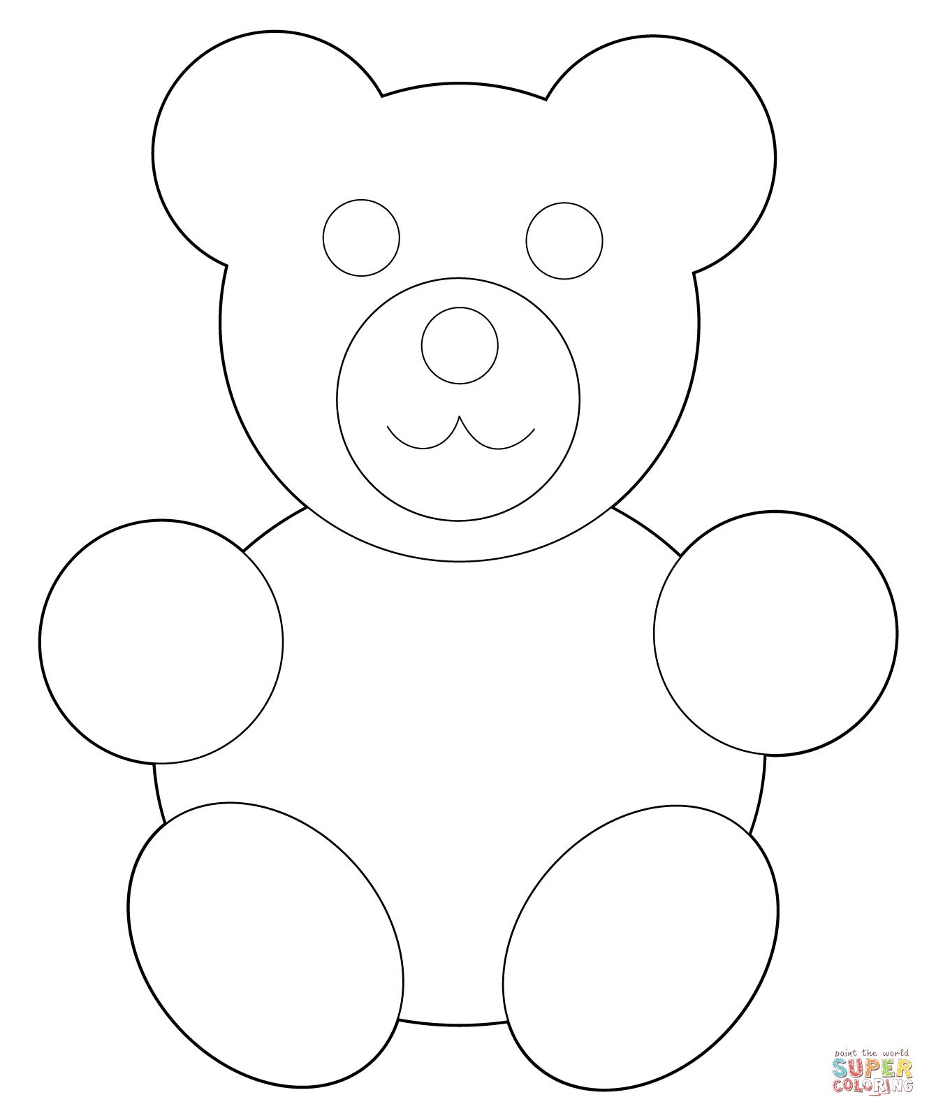 Gummy Bear clipart teddy bear outline Pages  teddy Gummy coloring