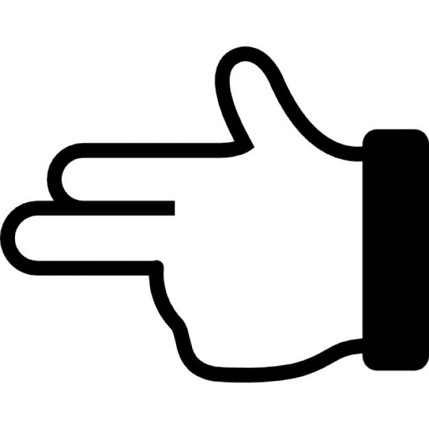 Gun clipart hand symbol #4