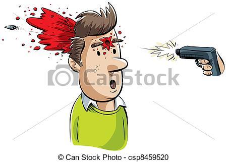 Gun Shot clipart A Shot  man of