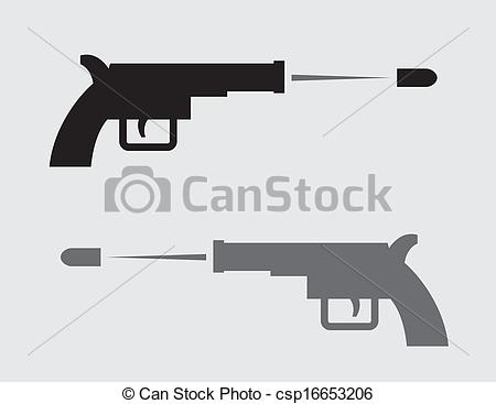 Shooter clipart handgun Shooting black Vector  csp16653206