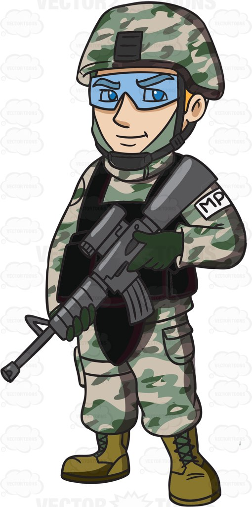 Soldiers clipart animated Gun Clipart Machine Officer Police