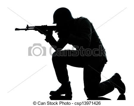 Soldiers clipart soldier shooting Man of soldier shooting soldier