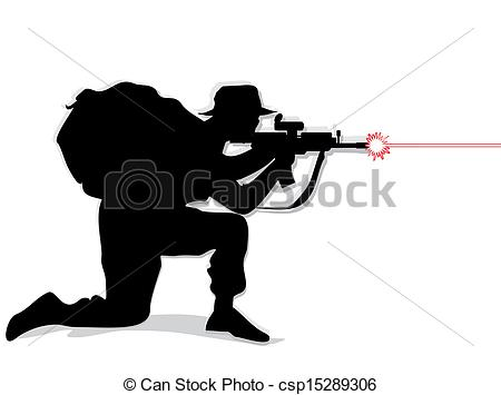 Soldiers clipart shooting gun Soldier  Soldier white shooting
