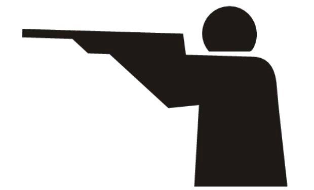 Gun Shot clipart coach Chronicle Deccan Shooting coaching poor