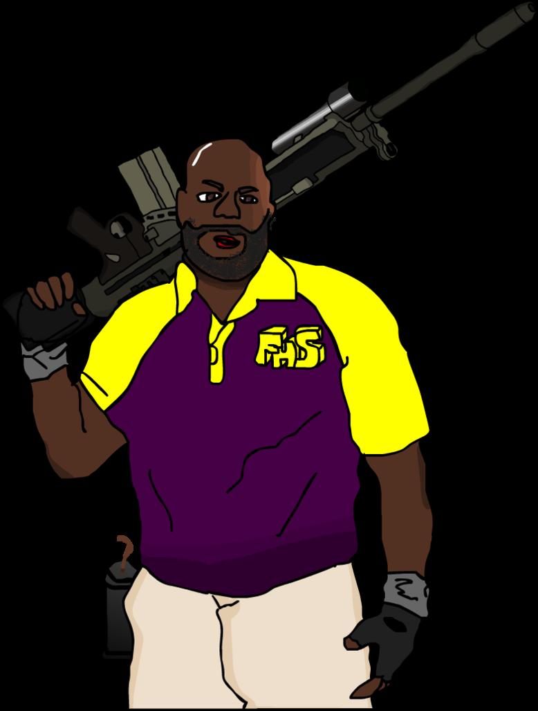 Gun Shot clipart coach 4 Dead by color DeviantArt