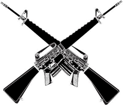 Assault Rifle clipart m16 Crossed gun 578843 jpg Logo