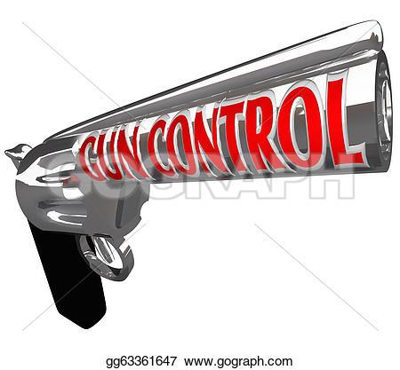 Gun Shot clipart handgun Illustration control control words plea