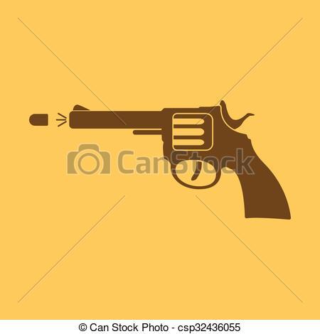 Gun Shot clipart handgun Symbol revolver Vector gun gun