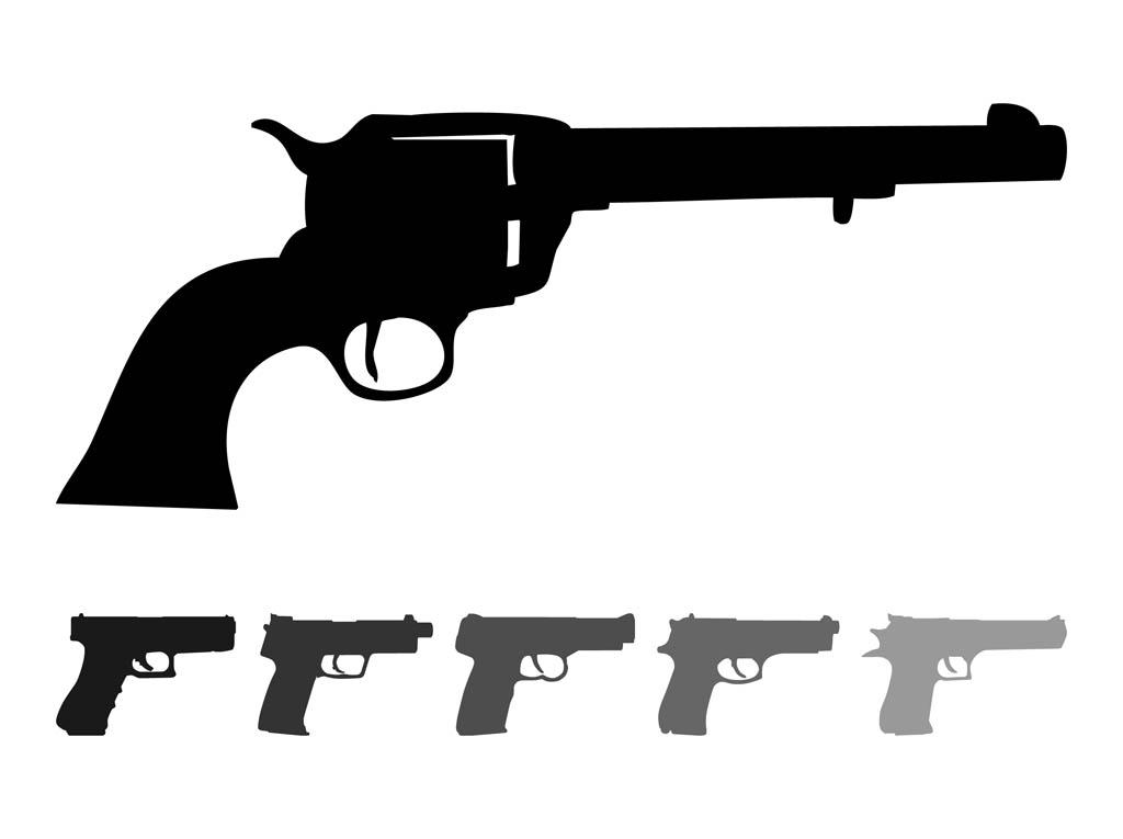 Gun Shot clipart handgun Silhouette cliparts Pistol Pistol Clipart