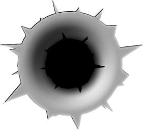 Gun Shot clipart hole 16 Hole noBACKS Bullet Hole