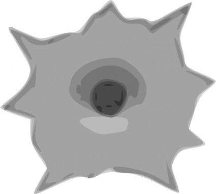 Gun Shot clipart hole Clip Clip Hole svg art