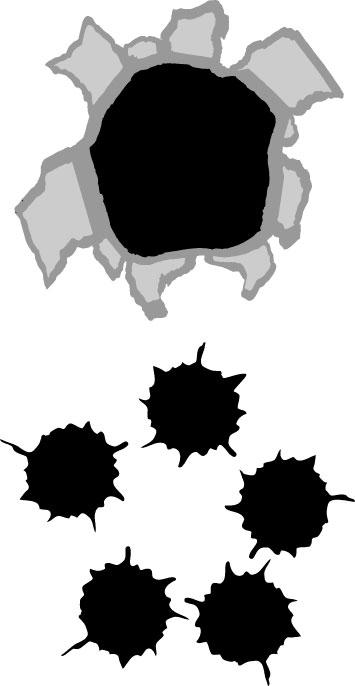 Gun Shot clipart hole Bullet Info hole effect Clipart