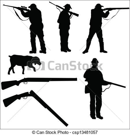 Gun Shot clipart hunting rifle  Hunters Vector and and