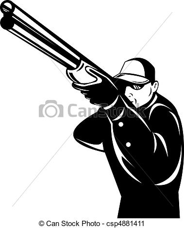 Rifle clipart logo Aiming isolated Illustration rifle hunter