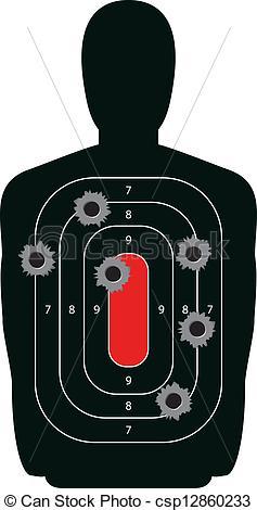 Gun Shot clipart line art Gun Shooting Vectors Target Silhouette