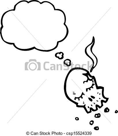 Gun Shot clipart line art Skull gun skull cartoon Vector