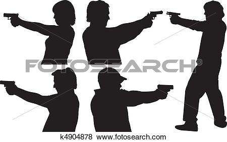 Gun Shot clipart line art Gun Art Shooting Clip shooting