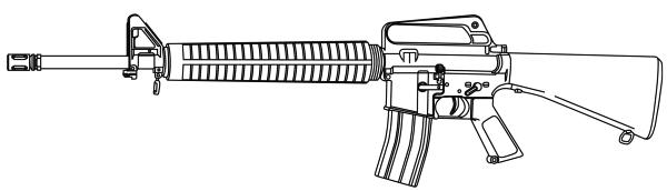 Assault Rifle clipart m16 M16A2 Clip Rifle Semiautomatic Rifle