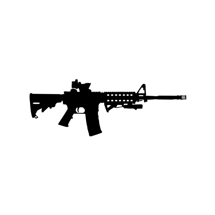 Gun Shot clipart cartoon SVG graphics Assault Gun vectordesign