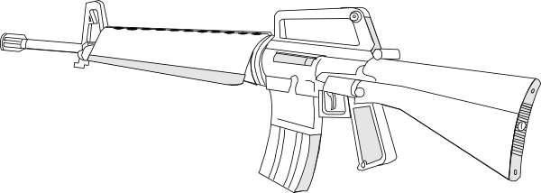 Shotgun clipart m16 Clker at as: vector Download