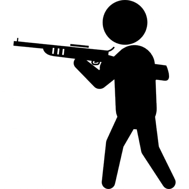Gun Shot clipart man +800 free files SVG with