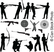 Gun Shot clipart man Images and firearms Firearms Stock