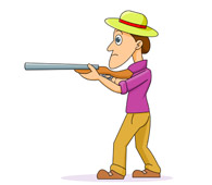Gun Shot clipart man For shot Size: 60 Kb