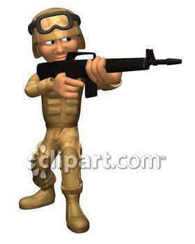 Sniper clipart army gun Caucasian rifle adult goggles military