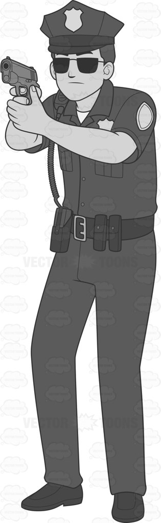 Gun Shot clipart police gun With Shooting Clipart Handgun Shooting