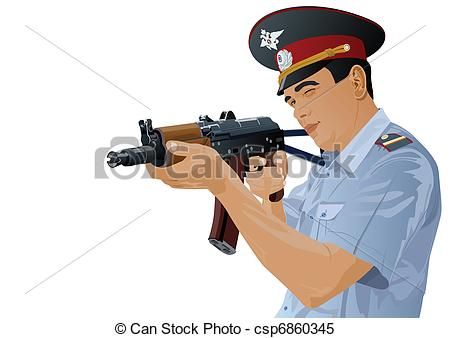 Gun Shot clipart police gun Officer csp6860345 with The gun