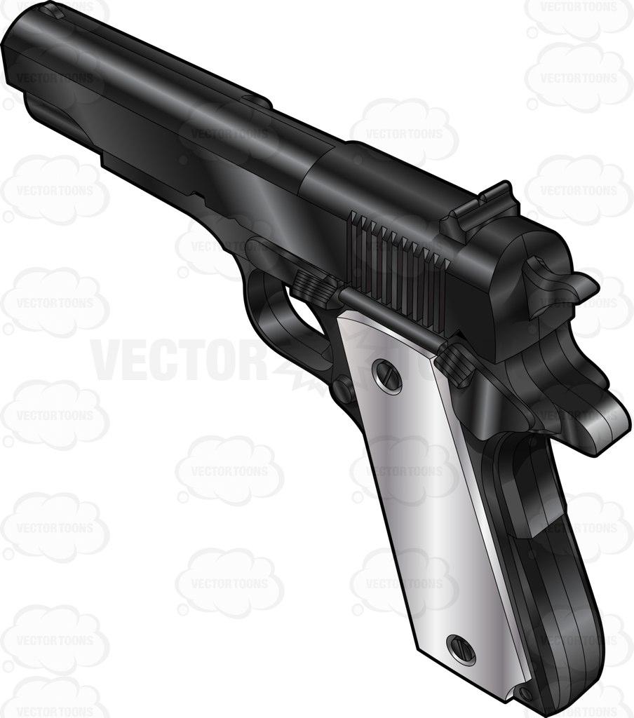 Pistol clipart 30 mm Cartoon A View A Side