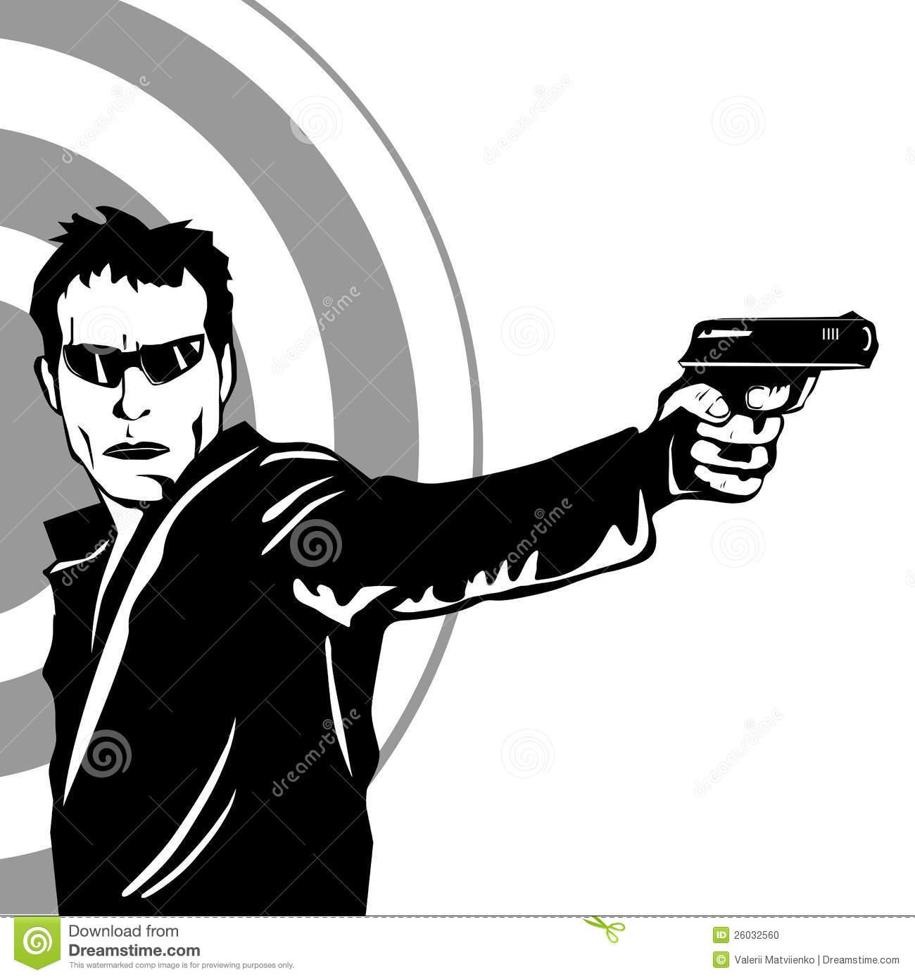 Gun Shot clipart profile Images Man (1548) Clipart Clipart