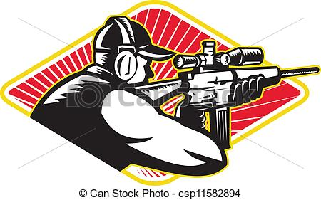 Symbol clipart rifle shooting Of csp11582894 Shooter  Rifle