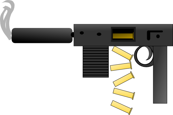 Bullet clipart 15 mm As: vector Clker Clip Automatic