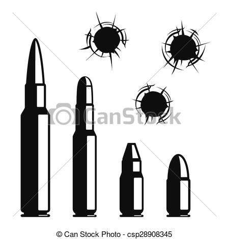 Bullet clipart graphic Crime vector EPS  Violence