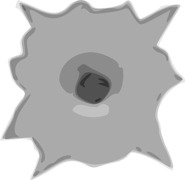 Gun Shot clipart vector art For vector art Hole