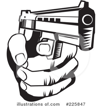 Shooter clipart handgun (RF) David Illustration Rey Clipart