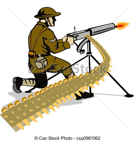 Shooter clipart war gun Clip the Art a Soldier
