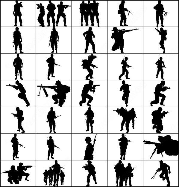 Gun Shot clipart ww1 On silhouettes shooting gun brush
