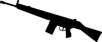Assault Rifle clipart gun silhouette Clip Free Art silhouette Clip