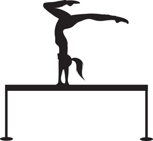 Gymnastics clipart somersault Gymnastics Clipart Free And Clipart