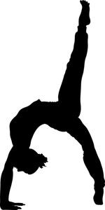 Shadow clipart gymnast #3