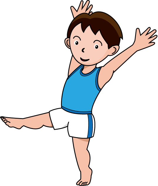 Gymnastics clipart somersault And white clipart clipart Free
