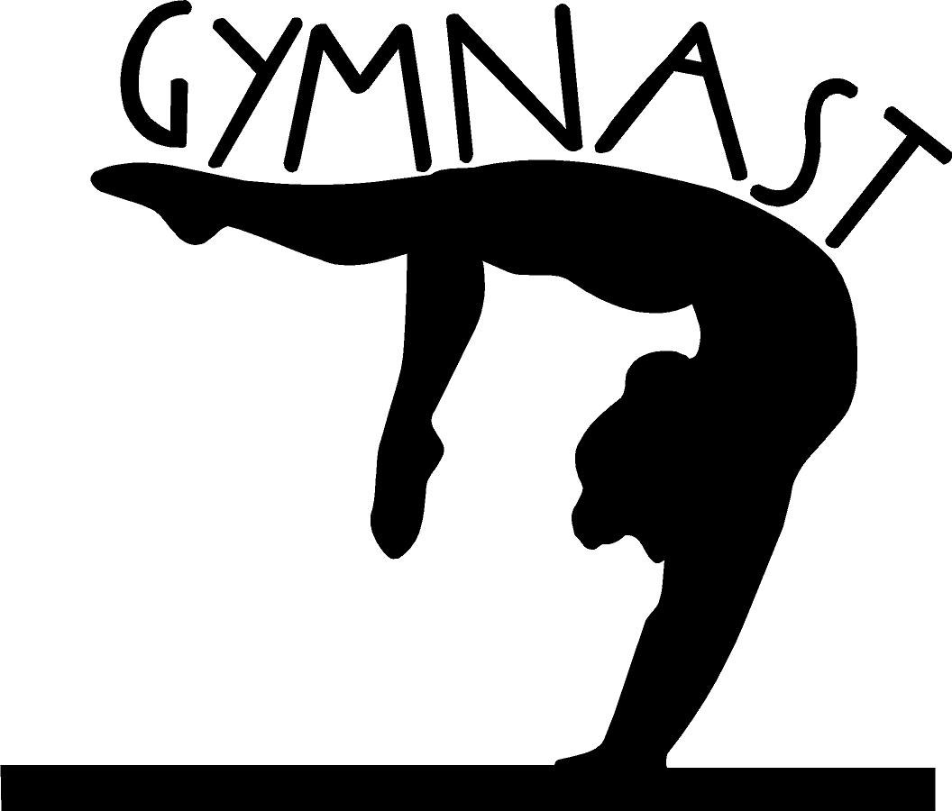 Gymnastics clipart player Pictures fullxfull Girl Free silhouette