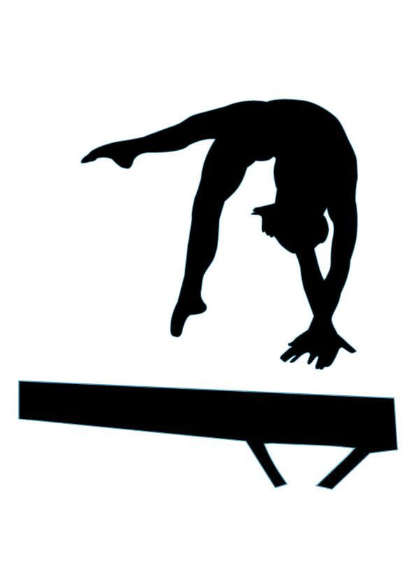 Gymnastics clipart rythmic Images Decals Silhouettes Custom 28