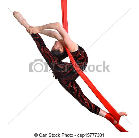 Gymnast clipart acrobatic gymnastics Rope Photo gymnastic red on