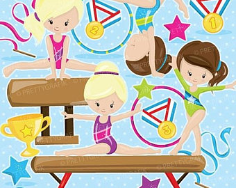 Gymnast clipart acrobatic gymnastics Gymnastic OFF Acrobatic commercial digital